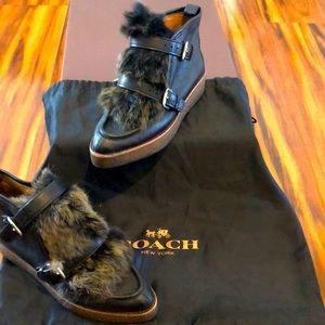 COACH Sampson Ankle Boot  Genuine Rabbit Fur